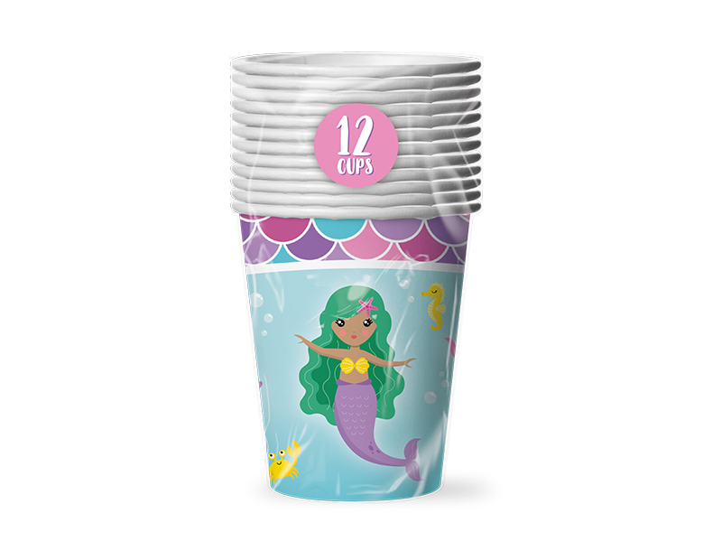 Mermaid Cups 12 Pack