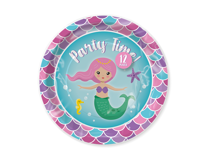 Mermaid Disposable Plates