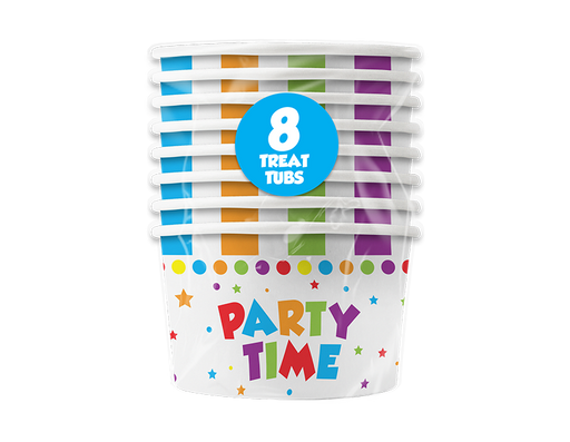 Party Time Treat Tubs 8 Pack