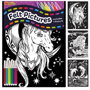 Unicorn Felt Colouring Kit