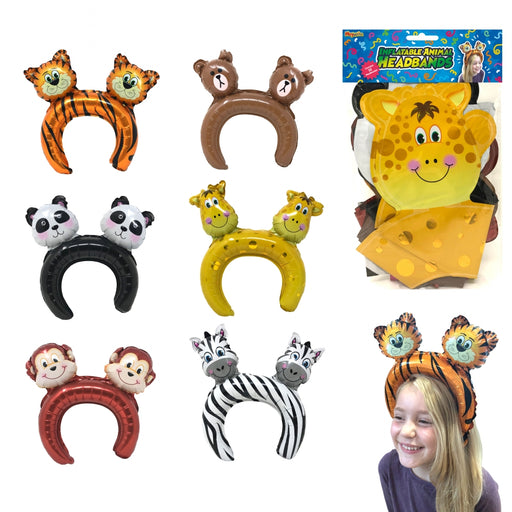 12 Pack Jungle Animal Headbands