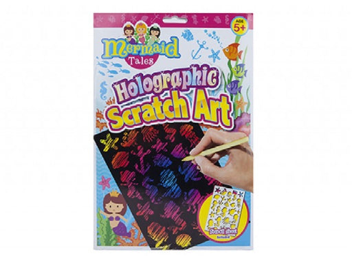 Mermaid Holographic Scratch Art Picture Kit