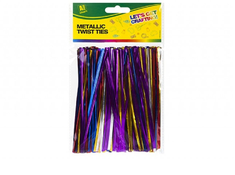 Pack Of 400 Metallic Twist Ties