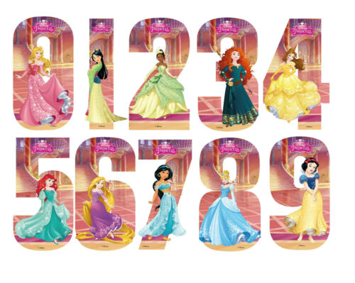 Disney Princess Number Stickers