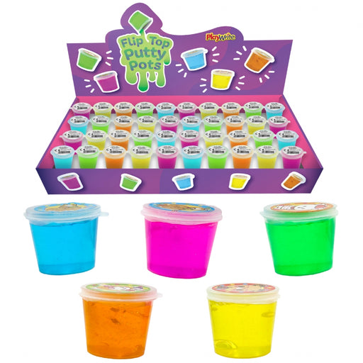 Flip Top Neon Putty Pots