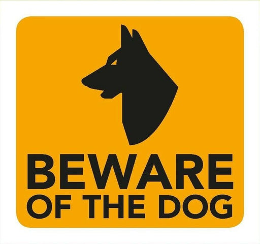 Beware of The Dog Information Sign 8cm x 8cm