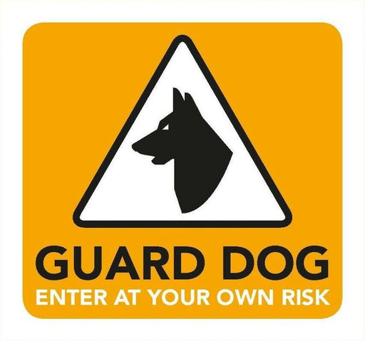 Guard Dog Information Sign 8cm x 8cm