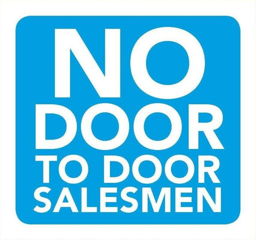 No Door To Door Salesman Information Sign 8cm x 8cm