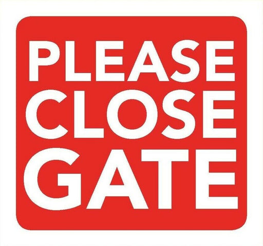Please Close Gate Information Sign 8cm x 8cm