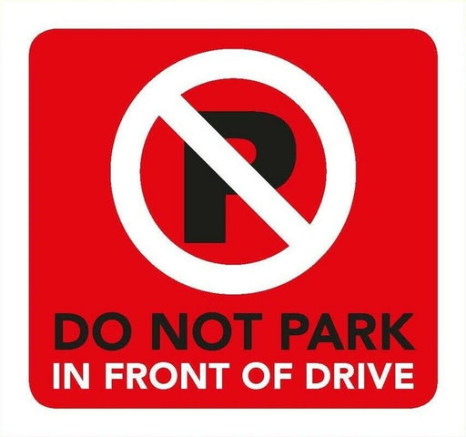 Do Not Park Information Sign 8cm x 8cm