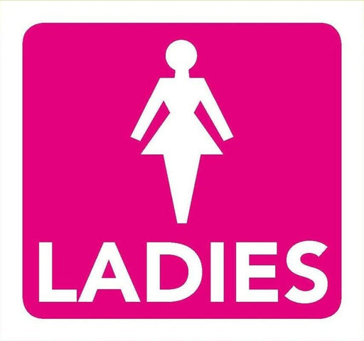 Ladies Toilet Information Sign 8cm x 8cm