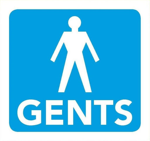 Gents Toilet Information Sign 8cm x 8cm