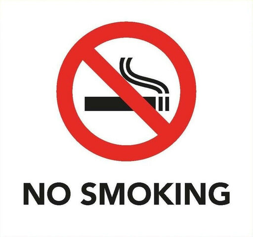 No Smoking Information Sign 8cm x 8cm