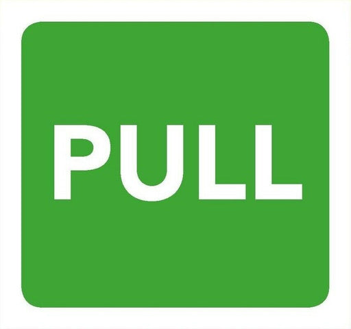 Pull Information Sign 8cm x 8cm