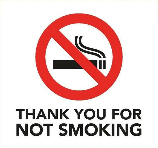 Thank you for not smoking Information Sign 8cm x 8cm