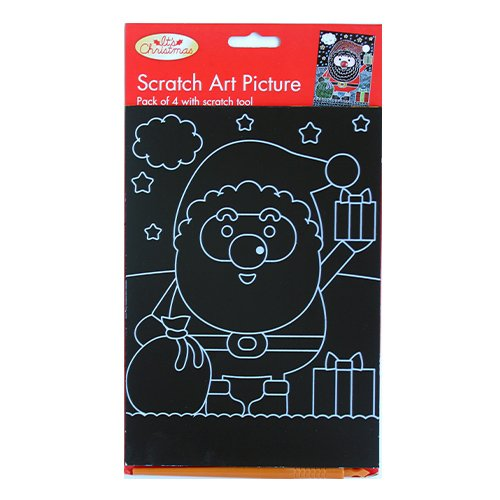 Xmas Scratch Art Picture Kit (Asst Designs)