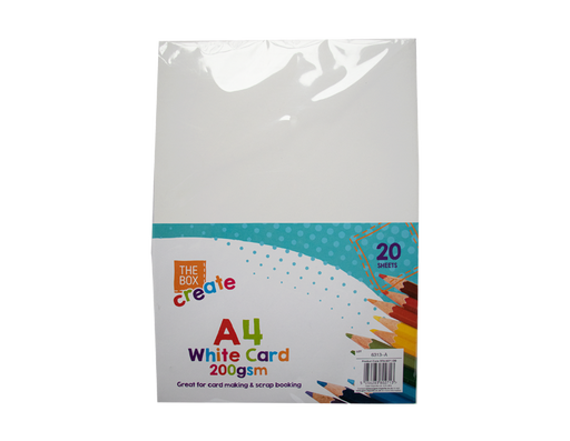 A4 White Card 20 Pack