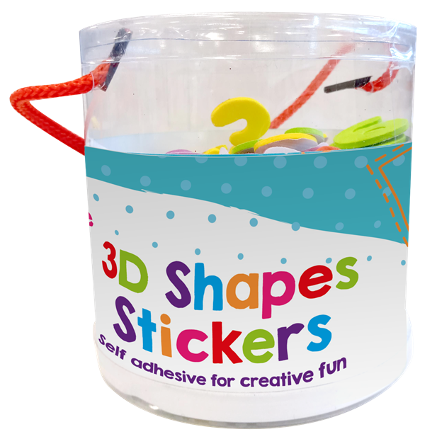 Shapes Tub of Foam Craft Stickers