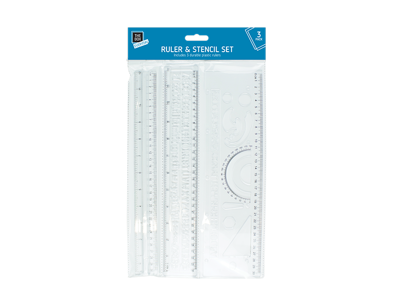 Ruler & Stencil Set 3 Pack