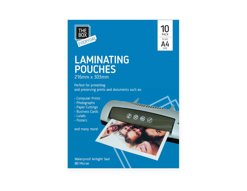 Laminating Pouches A4 10 Pack