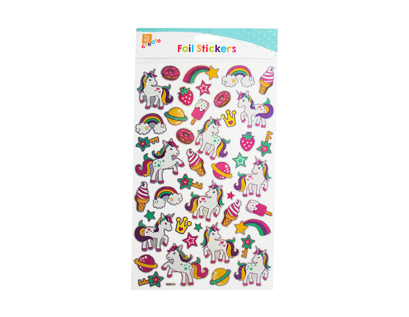 Unicorn Foil Holographic Stickers