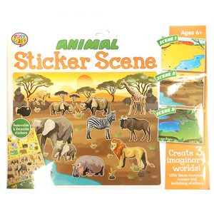 Animal Sticker Scene Reusable