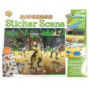 Dinosaur Sticker Scene