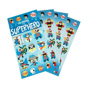 Super Hero Mini Sticker Book ( 12 sheets )