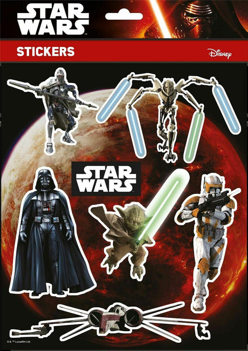 Star Wars Stickers Disney Characters High Quality A4 Pack Vinyl Decal Sheet