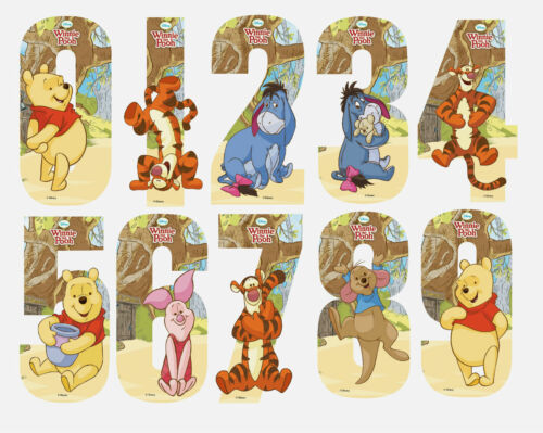 Disney Winnie The Pooh Number Stickers