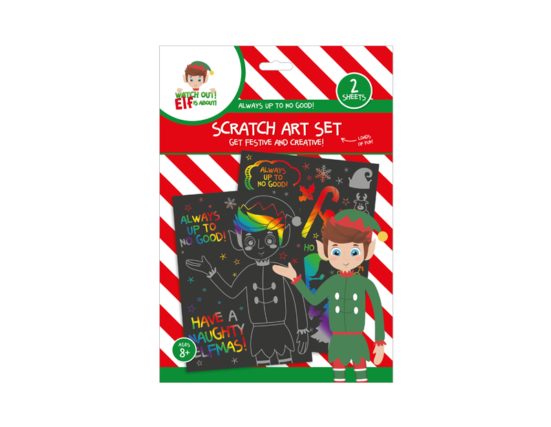 Elf Scratch Art Set