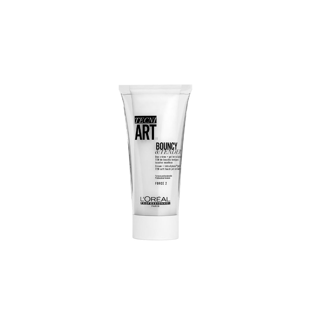 Tecni Art Bouncy & Tender Curls Sculpting Cream + Intra-Cylane™ gel duo