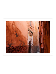 Print 'Colorful street in Marrakech