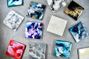Resin art placemats and coasters