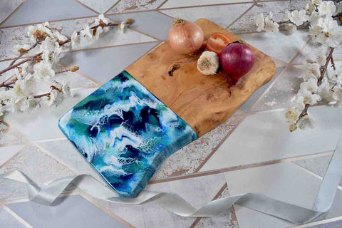 Abstract Painting Resin Art Liverpool Artist Kate Chesters