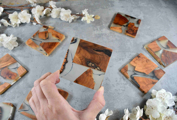 Frothing Ocean Framed Artwork 85x85cm