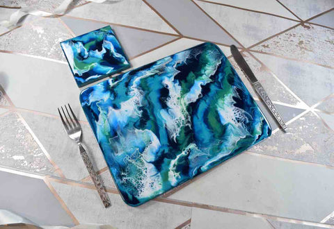 Ocean Art Placemats and Coasters - Beach House Decor