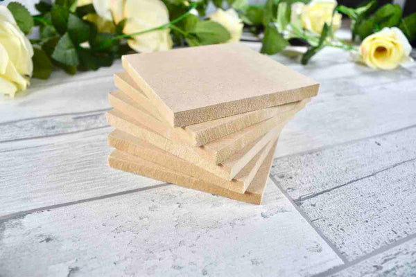 Wooden Drinks Coaster Blanks Ideal for Crafting, Pyrography, Painting, Resin Art, Laser Cutting