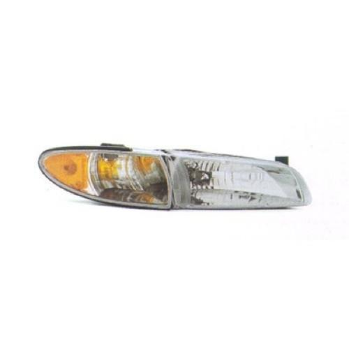 1997-2003 Pontiac Grand_Prix Head Lamp Passenger Side With Side Marker High Quality