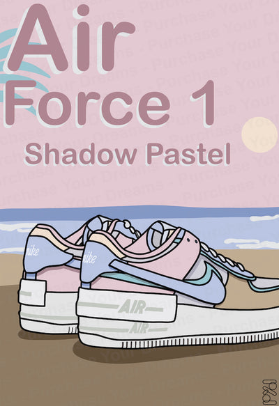 Illustration - Air Force 1 Shadow Pastel