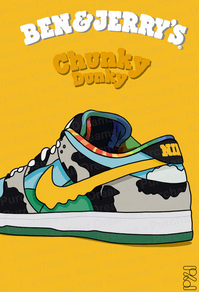 Illustration - Nike Dunk Low Ben & Jerry's