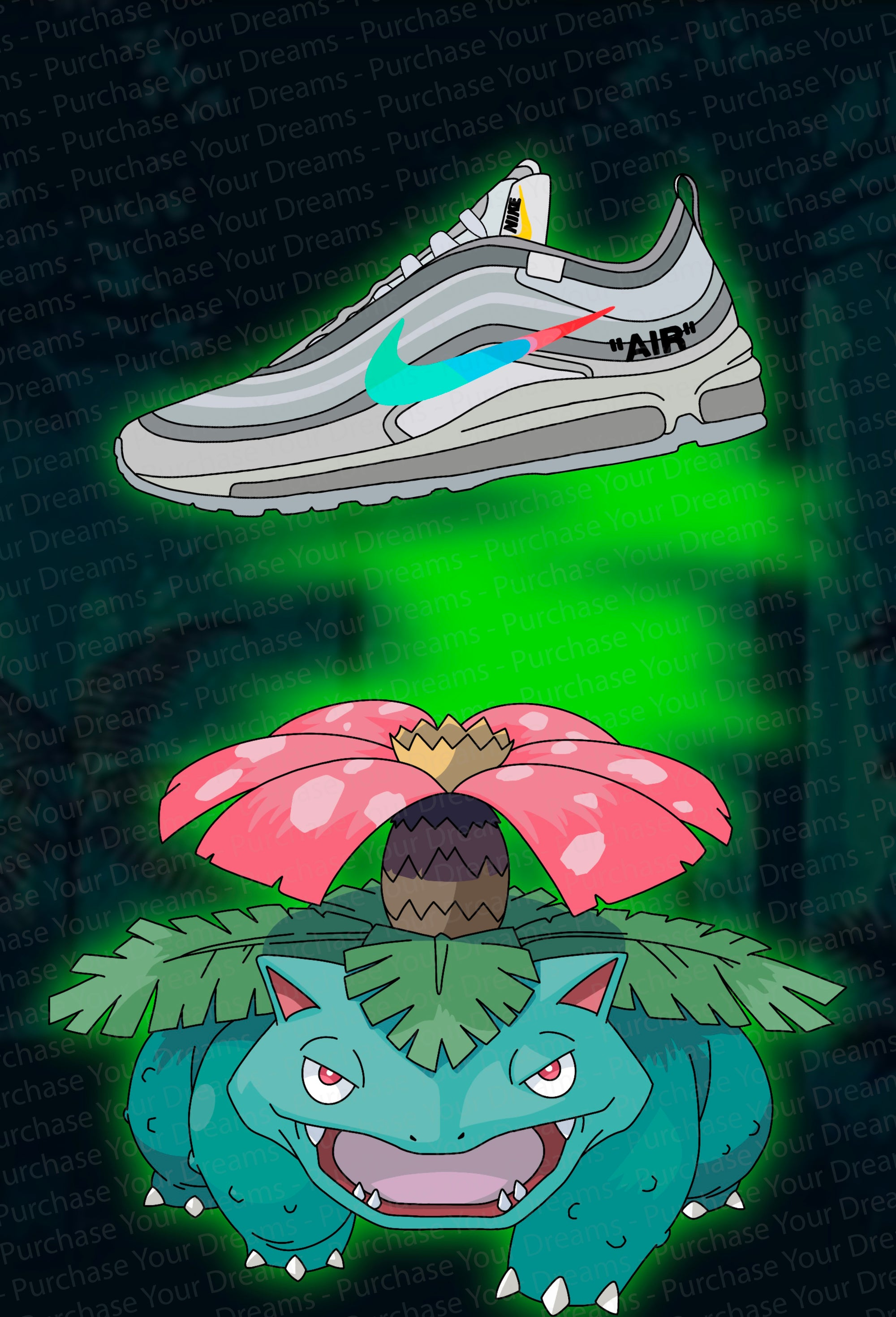 Illustration - Pokemon x Off-White - Florizarre