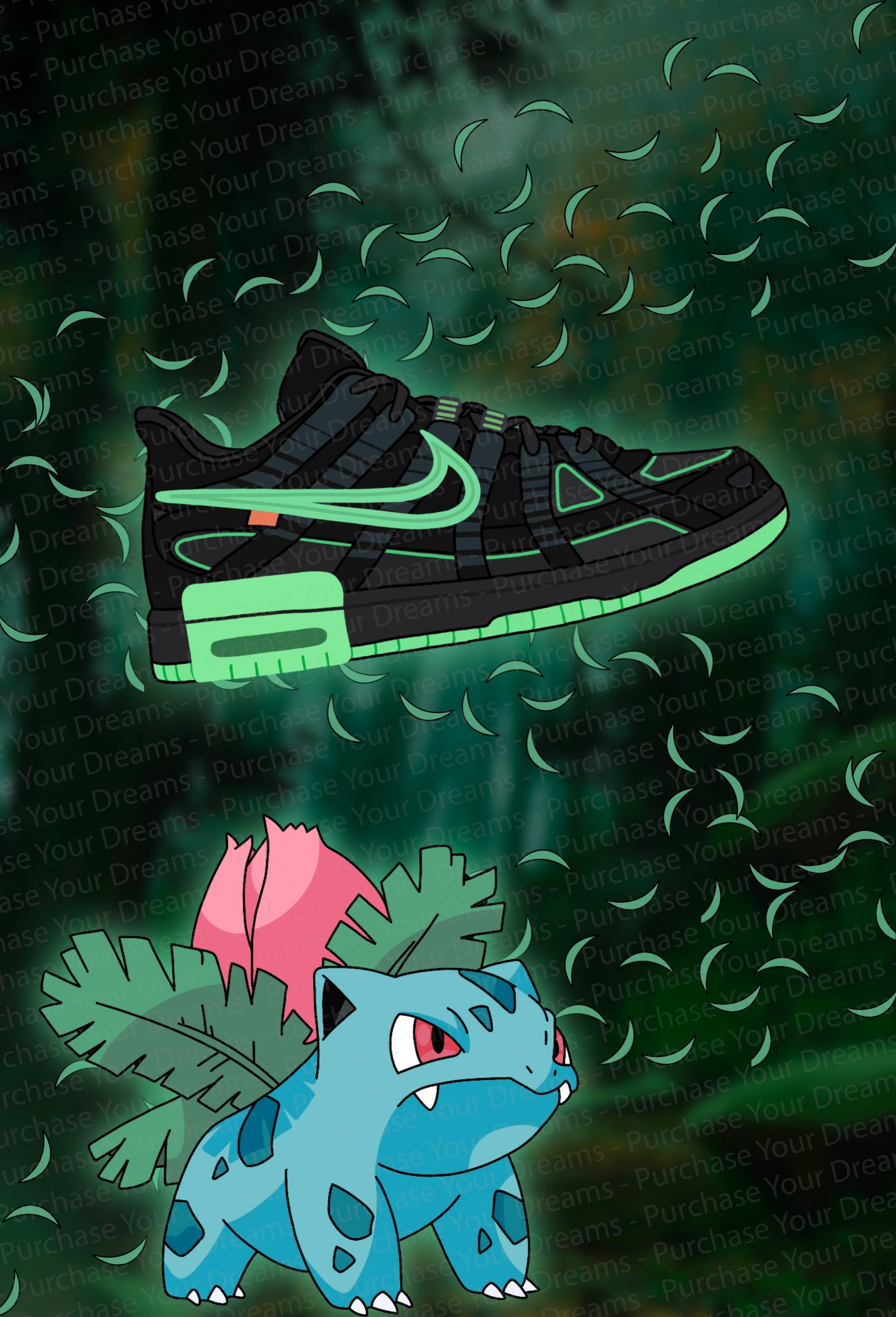 Illustration - Pokemon x Off-White - Herbizarre