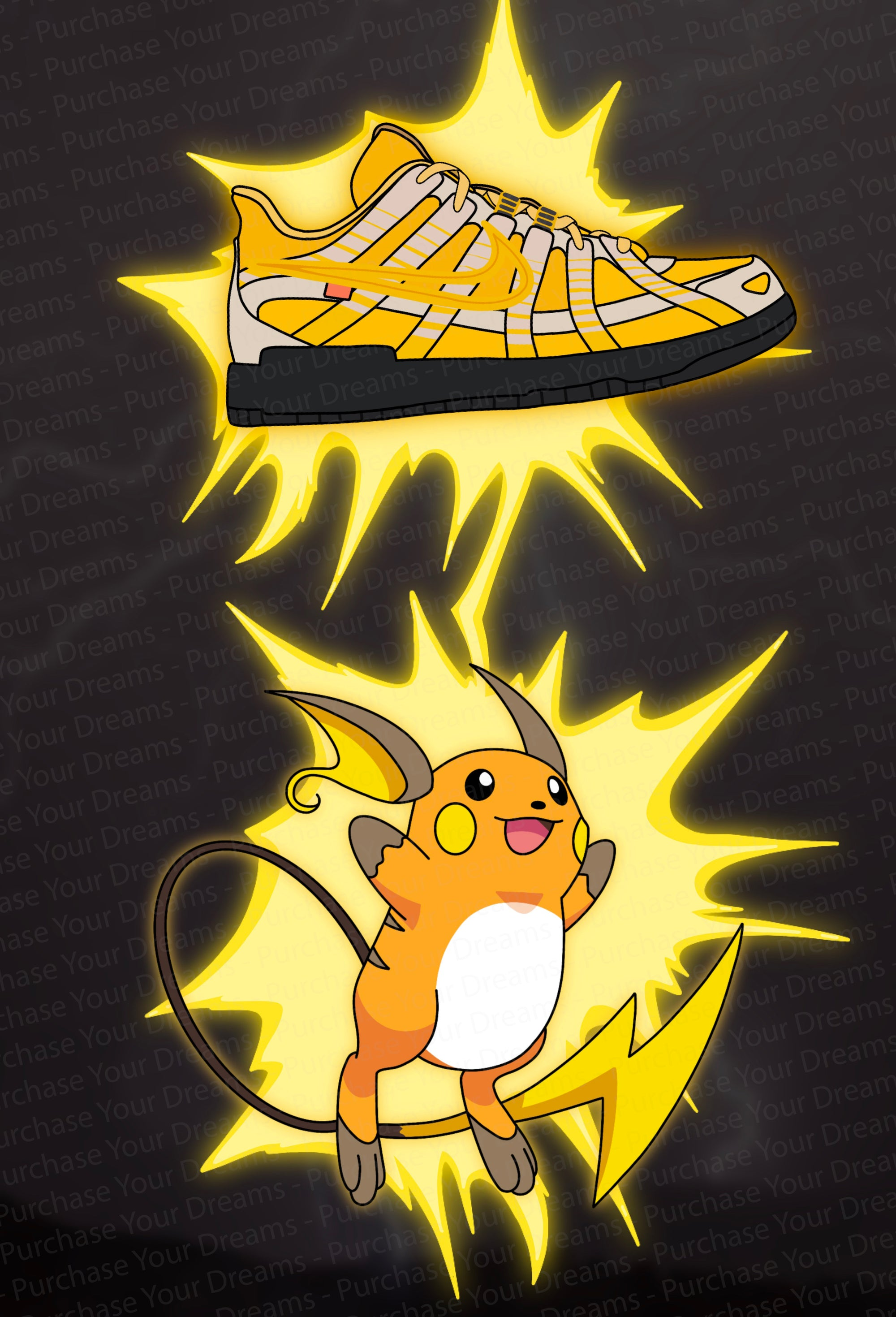 Illustration - Pokemon x Off-White - Raichu