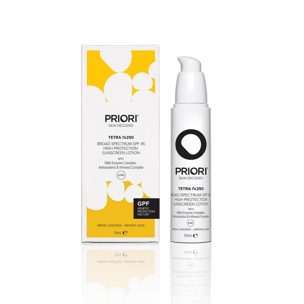 PRIORI TETRA – fx250 – Broad Spectrum SPF 45 UNIVERSAL 50ml