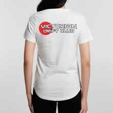 Load image into Gallery viewer, VicDrift White T-Shirt Womens