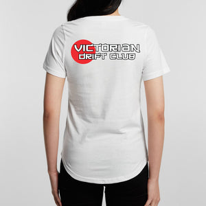 VicDrift White T-Shirt Womens