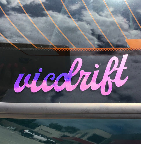 Vicdrift iridescent sticker