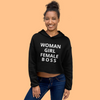 CROP Hoodie: Woman Girl Female BOSS