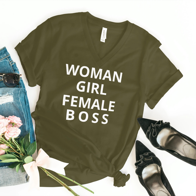 Woman, Girl, Female, BOSS Tee